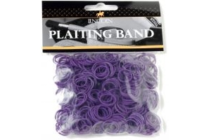 Lincoln Plaiting Bands Bag Purple