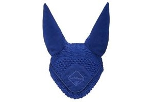 LeMieux Signature Fly Hood - Benetton Blue/Blue Braid, Large
