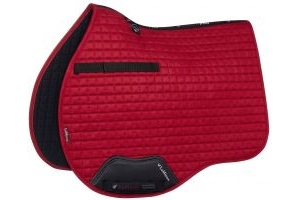 LeMieux Suede GP Square Saddle Pad Chilli Red