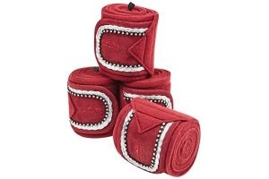 Weatherbeeta Fleece Bling Bandage 4pk 3.5m - Maroon