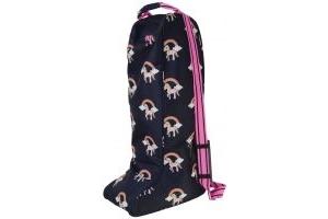 Hy Unicorn Boot Bag Navy/Pink