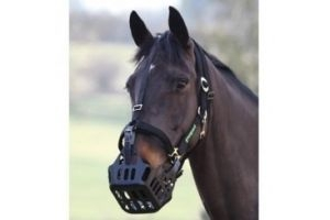GreenGuard Grazing Muzzle (Cob & Full)-Black Full/Large