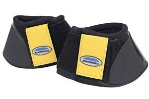 Weatherbeeta Impact Over Reach Boots Cob Black Mustard Yellow
