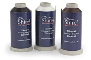 Shires Equestrian Waxed Plaiting Thread Brown