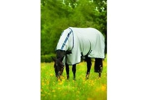 Horseware Amigo Bug Rug / Fly Blanket, Silver/Navy