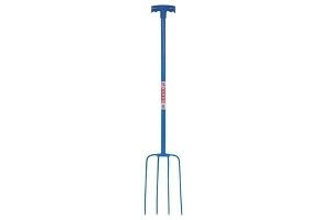 Red Gorilla Tubular Manure Fork 4 Prong T-grip Blue - Faulks Co Grip