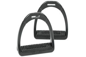 Shires Compositi Premium Profile Stirrups Black Adult