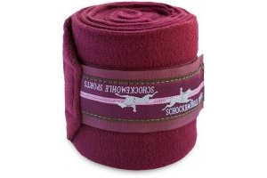Schockemohle Fleece Bandages Merlot