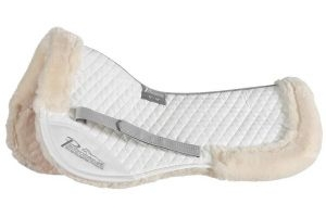 Shires Performance Suede Half Pad: White: 15-16.5 Inch