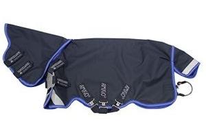 Horseware Amigo Bravo 12 Plus Lite Turnout Rug with Disc Closure 6-3 Navy/Blue & Silver