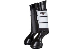LeMieux Unisex's ProSport Hi-Vis Grafter Pair Brushing Boots, Black, X-Large