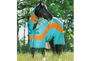 Horseware Amigo Evolution - Aqua/Orange: 7ft 0inches / 84inches