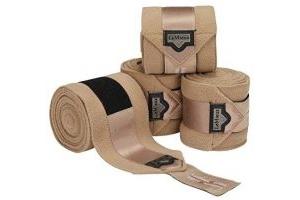 LeMieux Loire Satin Polo Full Size Bandages - Champagne