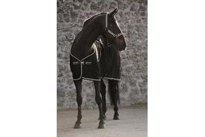 Rambo Horseware Diamante Cooler-Black/Black & Diamante 5'6