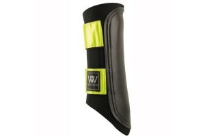 Woof Wear Club Brushing Boot - Black/Reflective, Small by Woof Wear