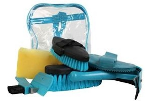 Roma Backpack 7-Piece Grooming Kit: Teal