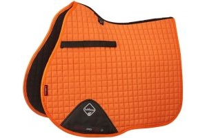 LeMieux ProSport Suede GP/Jump Square Saddle Pad Tangerine