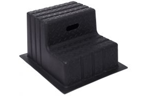 Classic Showjumps Standard 2 Step Mounting Block Black