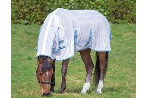 Bridleway Fly Sheet Horse Rug - White/Navy: 5ft6