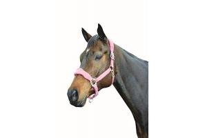 Roma Fleece Shaped Headcollar: Berry: Pony