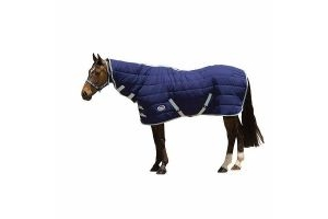 Weatherbeeta Horse Under Rug Combo 220g: Navy & Silver: 7 ft