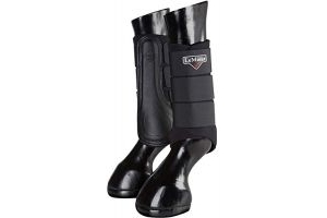 LeMieux Unisex's ProSport Grafter Brushing Boots Pair, Black, Small