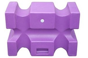 Classic Showjumps Unisex's Classic Pro-Jump Showjumps Parallel Block, Purple, Regular