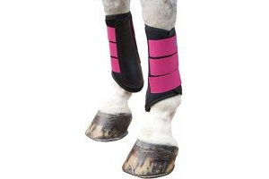 Shires ARMA Neoprene Brushing Boot Pony Raspberry
