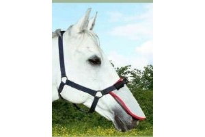 EQUILIBRIUM FIELD RELIEF MUZZLE Protector nose net Pony Grey/Red