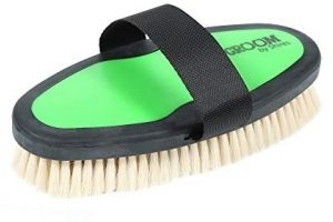 Shires Ezi-Groom Body Brush with Goat Hair-Lime Green One Size