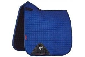 LeMieux ProSport Lustre/Suede Dressage Square (D-Ring) - Benetton Blue, Large