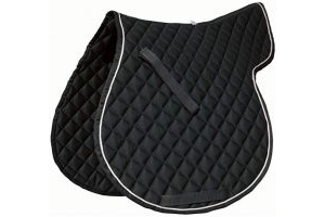Roma Grand Prix High Wither All Purpose Numnah (Warmblood) (Black/White)