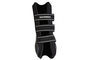Weatherbeeta Pro Air Open Front Boots Black Full