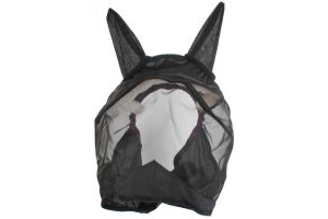 Shires Fine Mesh Fly Mask with Ears Black/Purple