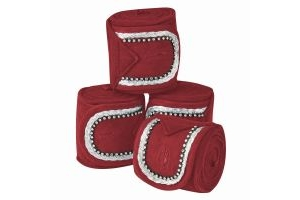 WeatherBeeta Fleece Bling Bandages Maroon