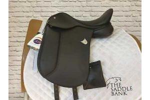 15 inch Bates Pony Dressage Saddle Black Adjustable (C00141)