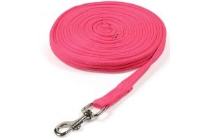 Shires Cushion Web Lunge Line Pink