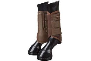 LeMieux Mesh Brushing Boots - Brown, Medium