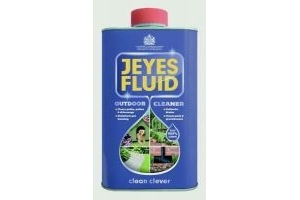 Jeyes Fluid Multi-Purpose Disinfectant Outdoor Cleaner Drain Patio Path 1 Litre