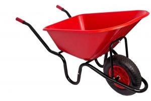 Red Gorilla Wheelbarrow Assembled Red