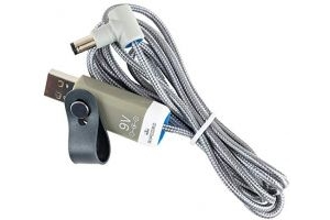 MyVolts Ripcord - USB to 9V DC power cable compatible with the Equilibrium Therapy Massage Mitt