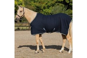 Horseware Rambo Techni Waffle Cooler Rug - Navy/Beige/Baby Blue and Navy : 7ft3