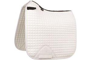 LeMieux ProSport Suede Dressage Square (D-ring) - White, Large
