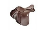 Bates All Purpose Square Cantle Saddle With Cair - Classic Brown - 42cm
