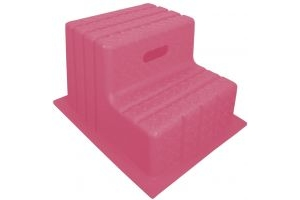 Classic Showjumps Standard 2 Step Mounting Block Pink