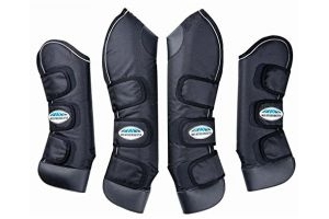 Weatherbeeta Deluxe Pony/Horse Travel Boots - Black: Cob
