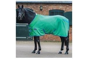 Weatherbeeta Fleece Cooler Standard Neck Bright Green/Blue/Cerise 50