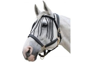 Roma No Headcollar Fly Fringe Black