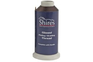 Shires Waxed Plaiting Thread Reel Brown