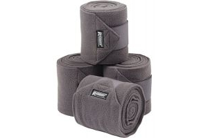 Roma Thick Polo Bandages 4 Pack Grey One Size